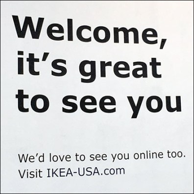 Great-To-See-You IKEA Lobby Welcome