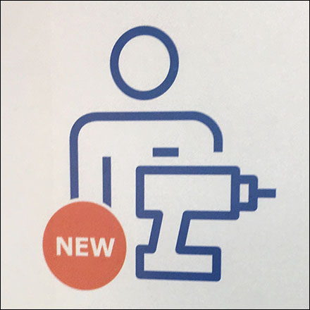 Assembly Required - Assembly Service Available Ceiling Sign