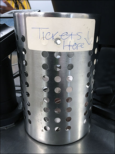 Place Returns-and-Exchanges Tickets Here