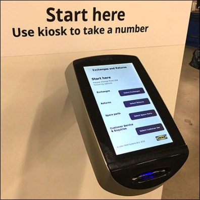 IKEA Returns-and-Exchanges Ticket Kiosk
