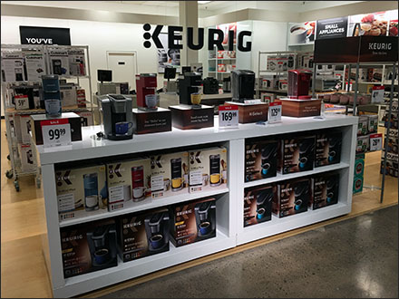 Keurig-Brand Silhouetted Ceiling Sign