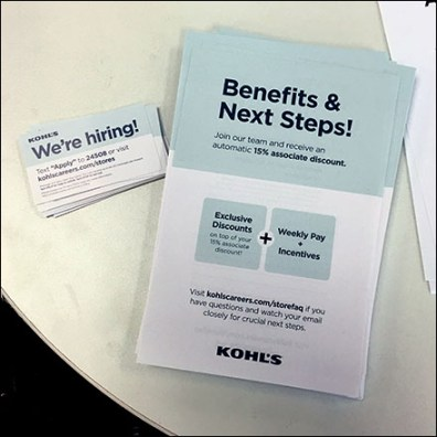 Store-Entry Table-Top Hiring Campaign