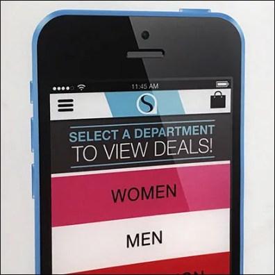 Long-Range Mall Mobile App Sign