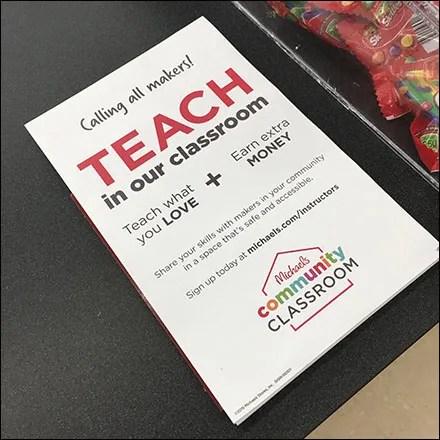 Counter-Top Teacher Recruitment Flyer