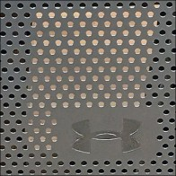 Under Armour Perforated Metal Isoceles Trapezoid Shelf Unit Logo Aux