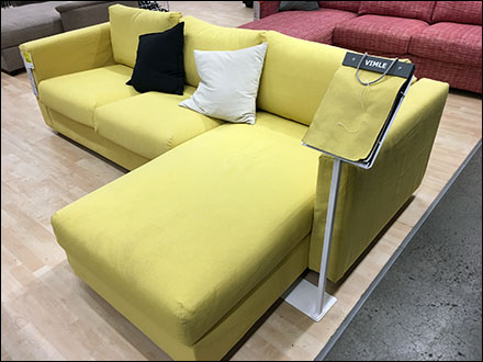 IKEA Freestanding Fabric Samples Couch-Side