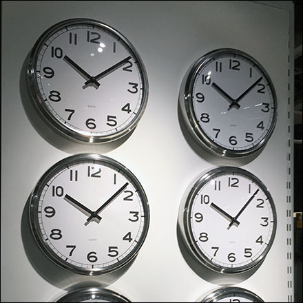 Wall Clock Endcap Display Merchandising
