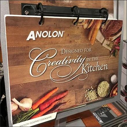 Anolon Kitchen Creativity Catalog 3-Ring-Stand