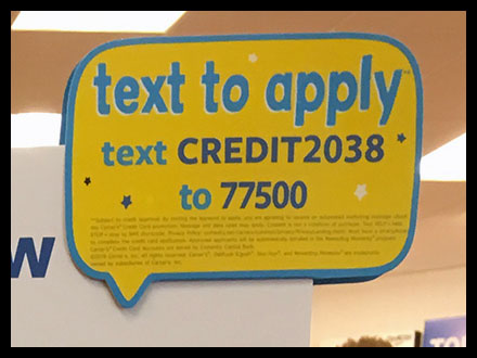 Apply-Now Credit-Card Foamcore Sign