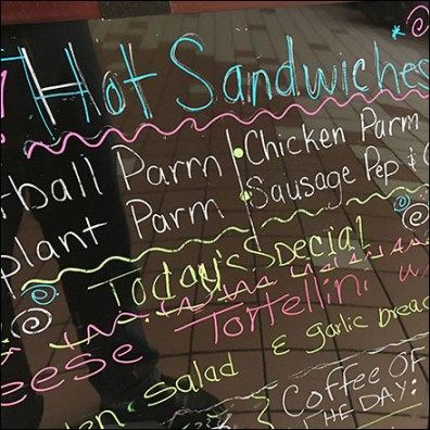 Hot-Sandwich-Ideas Sidewalk Sign Outreach