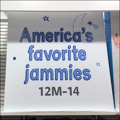 Carter's America's Favorite Jammies Merchandising Aux
