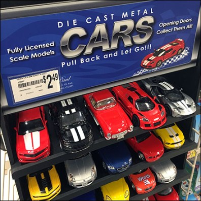 Die-Cast-Metal Car PowerWing Display