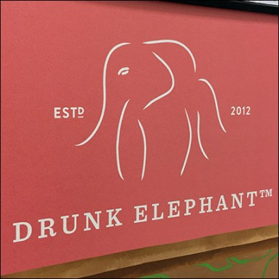 Drunk-Elephant Branded Cosmetics Display