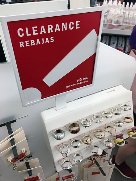 Fashion-Jewelry-Clearance Spinner Sign