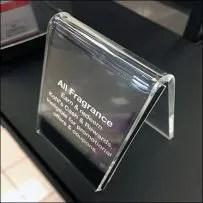 Fragrance-Rewards Acrylic A-Frame Easel