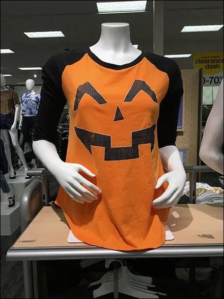 Halloween Raglan-Sleeve T-Shirt Merchandising