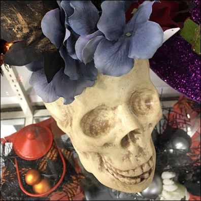 Halloween Floral Skull Fashion Statement