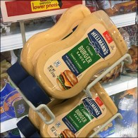 Hellmans Burger-Sauce Cooler Hang-Rack Square