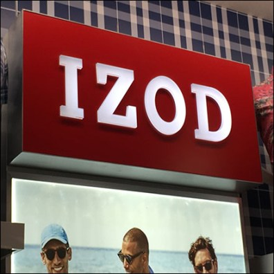 Izod Apparel Department Branding In-Store