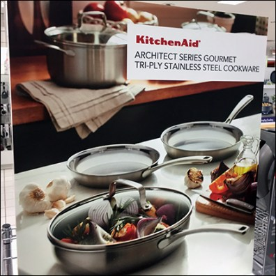 Look-Whats-New KitchenAid Cookware Display