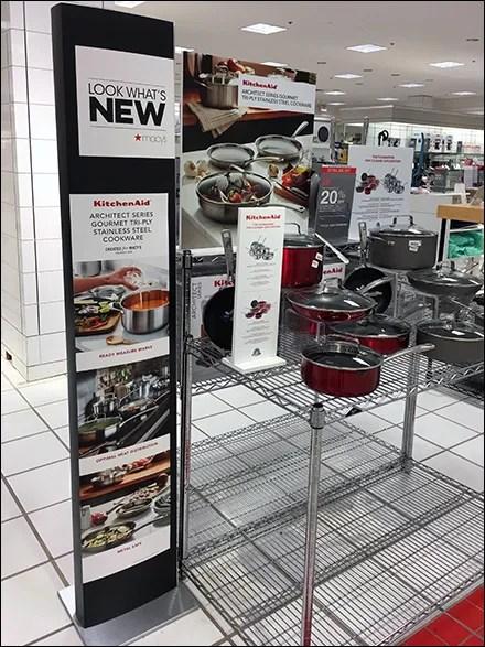 Look-Whats-New KitchenAid Cookware Display