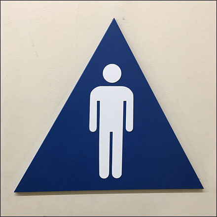 Men's Restroom Triangle Gender Identifier