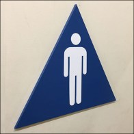 Men's Restroom Triangle Gender-Identifier