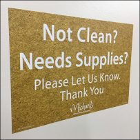 Restroom Cleaning Supplies Requests Encouraged