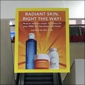Sephora Right-This-Way Escalator Ceiling Sign