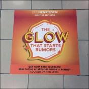 Sephora Start-a-Rumor Free-Facial Floor Graphic