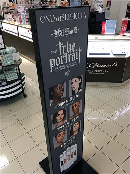 True-Portrait Vegan Cosmetics Mid-Aisle Sign