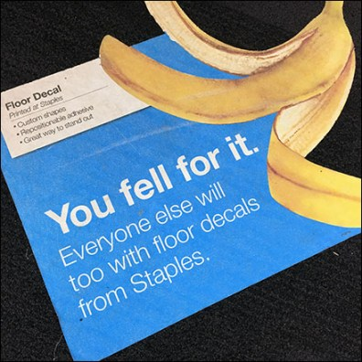 You-Fell-For-It Floor Graphic Advertising