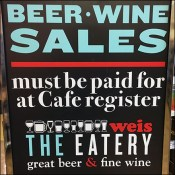 Beer-and-Wine Checkout Regulation Sign