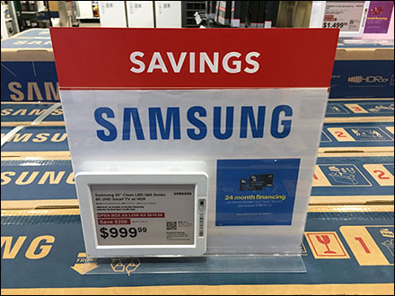 Electronic-Price-Tag Table-Top Samsung Sign-Holder