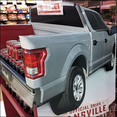 Dr. Pepper Fansville Pickup Truck Point-of-Purchase Square0