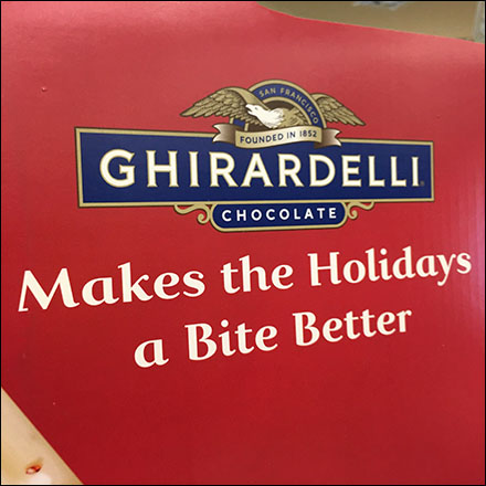 Ghirardelli Make-The-Holidays-A-Bite-Better Display