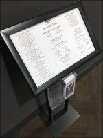 Thanksgiving Menu Stand with Takeaway Rack