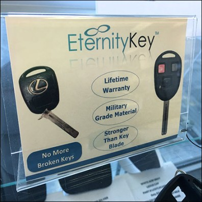 Lexus-Eternity-Key Acrylic Sign Holder