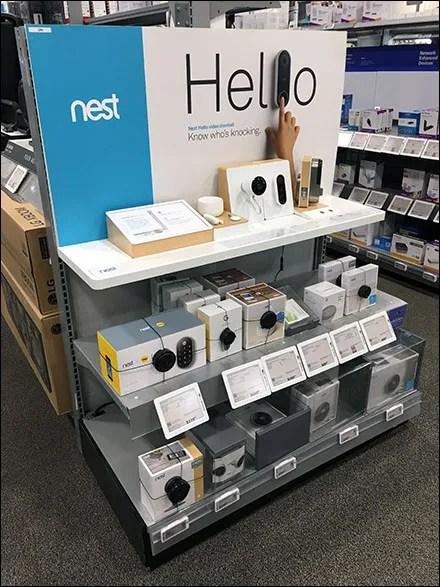 Nest Video-Doorbell Endcap Display