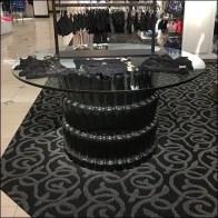 Nordstrom Circular Balustrade Glass-Top Table