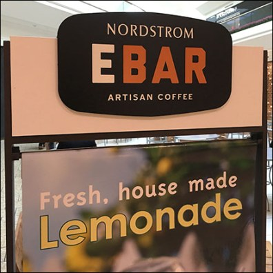 Nordstrom Mall-Concourse Lemonade Advertising