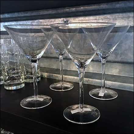 Galvanized-Sheet-Piling Glassware Display