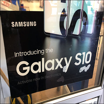 Samsung Galaxy S10 Store-Entry Window-Cling