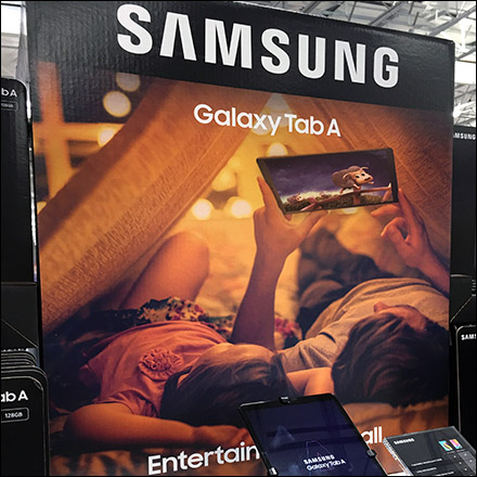 Samsung-Galaxy-Tablet A10 Pallet Display