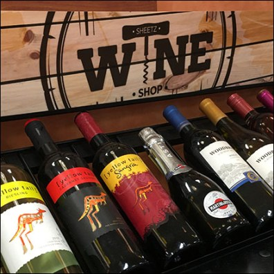 Sheetz Grab-And-Go Wine Rack Merchandising