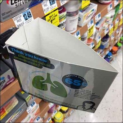 SmartSource Triangular Shelf-Edge Flag Promotion