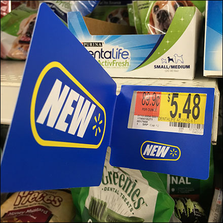 Walmart Shelf-Edge New-Flag Price-Sleeve