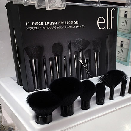 Elf Cosmetics Brush Collection Sample Display