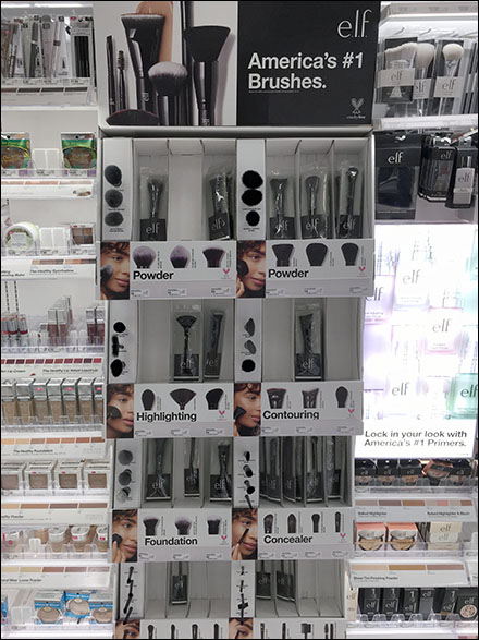 Elf Shelf-Front Cosmetics Brush Merchandising