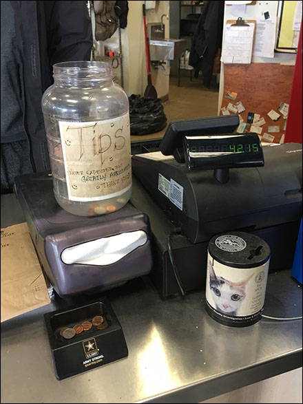 Hand-Lettered Tip Jar Solicitation